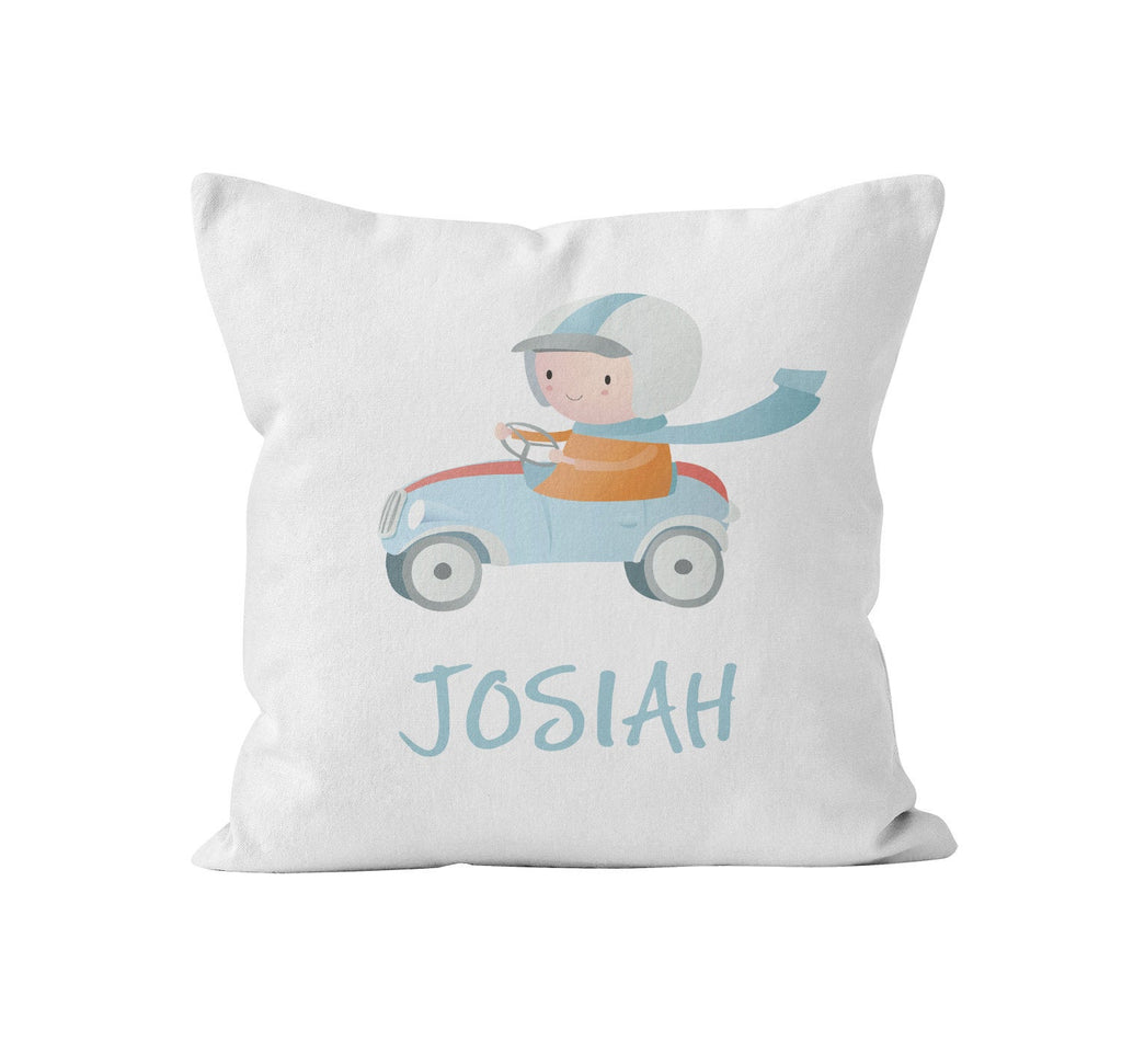 cars personalized nursery throw pillow