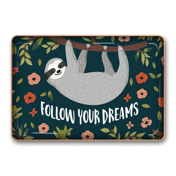 Metal Catchall Follow Your Dreams Sloth, Catchall, [Ziya Blue]