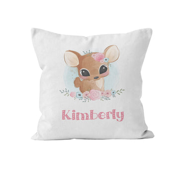 Throw Pillow Cover, Personalized, Cute Baby Animal, Nursery Pillow, [Ziya Blue]