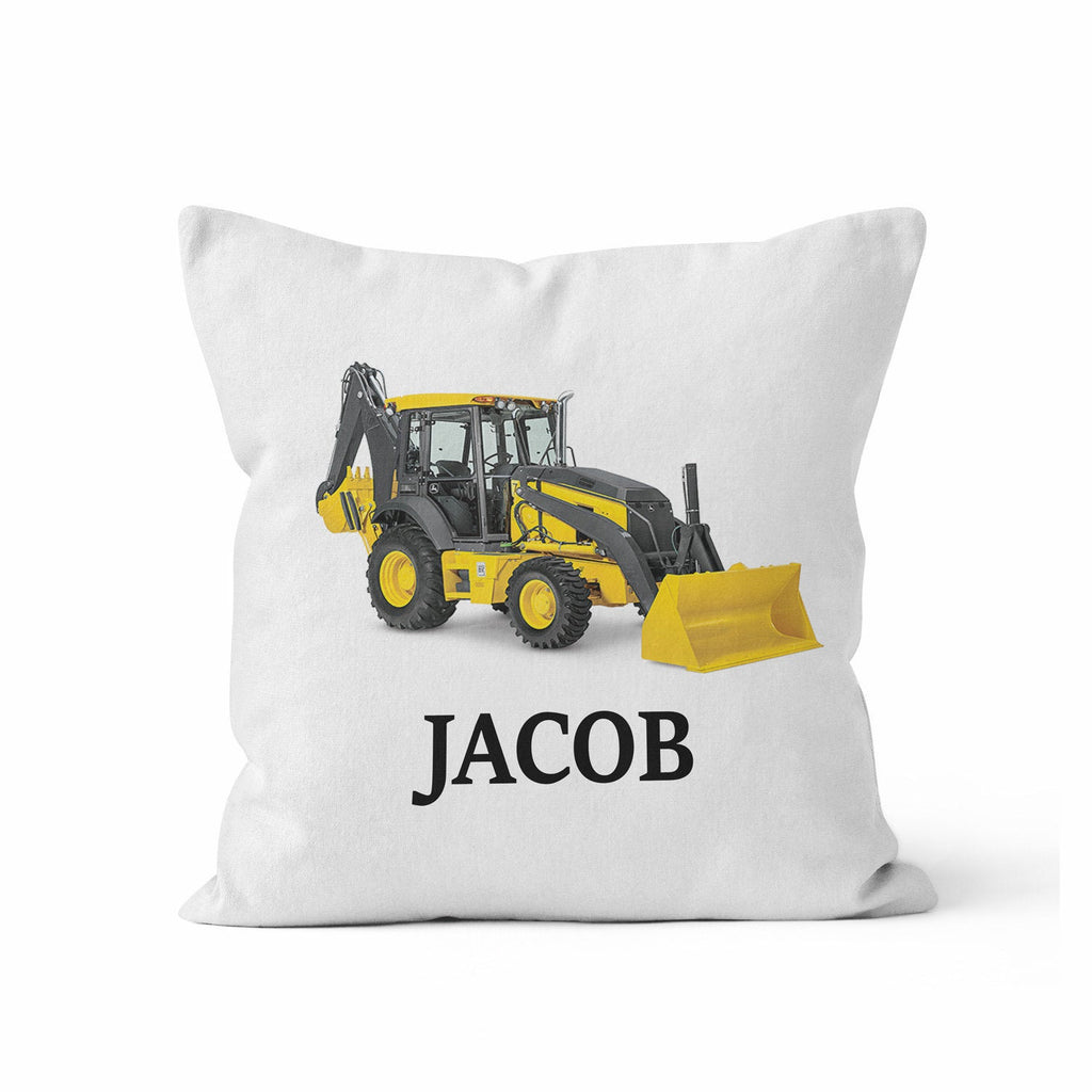 digger personalized nursery throw pillow