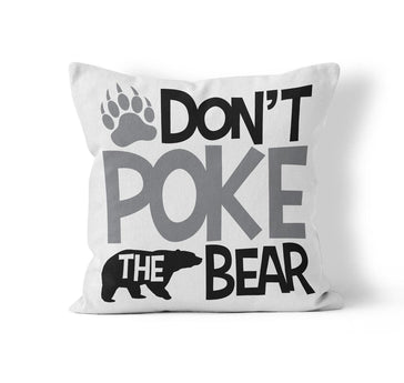 Throw Pillow Cover, Don't Poke the Bear, MADE TO ORDER, Pillow, [Ziya Blue]