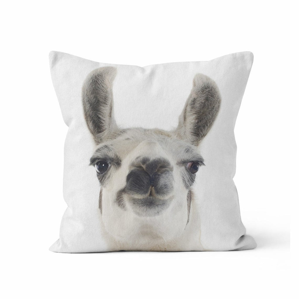 Throw Pillow Cover, Funny Llama, MADE TO ORDER, Pillow, [Ziya Blue]