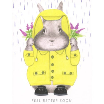 Card: Feel Bear Soon Bunny, Card, [Ziya Blue]