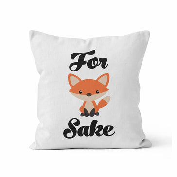 Throw Pillow Cover, For Fox Sake, MADE TO ORDER