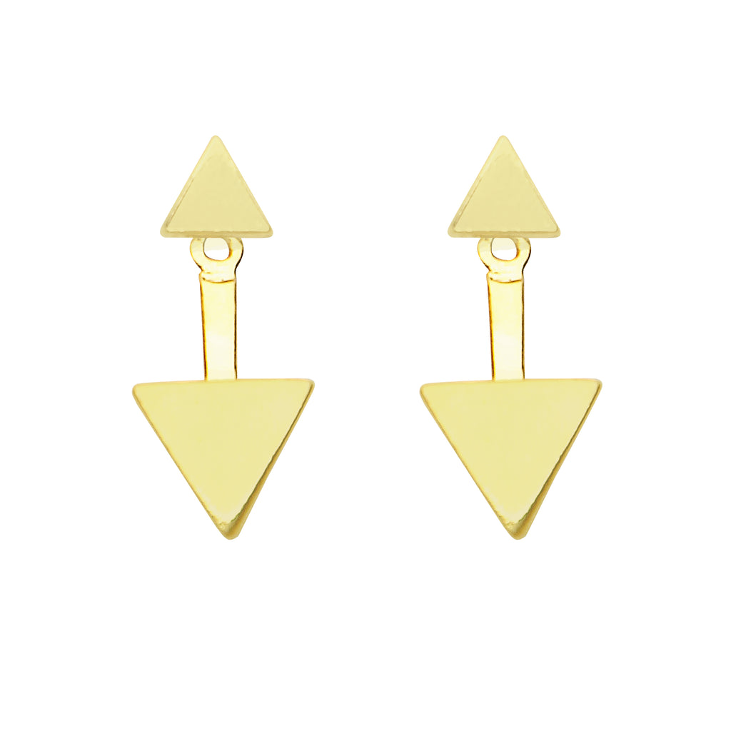 Foxy Originals: MINX EARRINGS IN GOLD, Jewelry, [Ziya Blue]