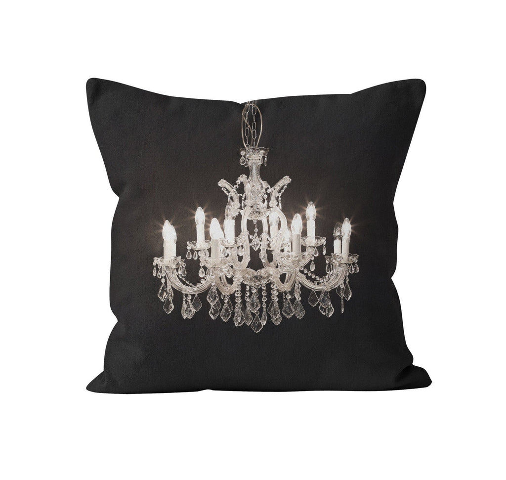 glam it up chandelier throw pillow cover
