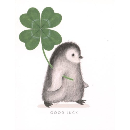 Card: Good Luck Penguin, Card, [Ziya Blue]