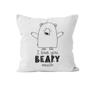 Throw Pillow Cover, I Love You Beary Much
