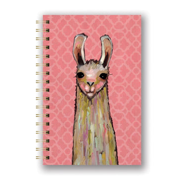 Spiral Notebook La-La-La Llama, Spiral Notebook, [Ziya Blue]
