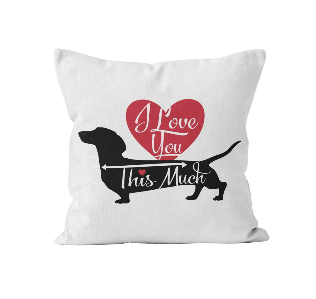Throw Pillow Cover, I Love You This Much, MADE TO ORDER, Pillow, [Ziya Blue]