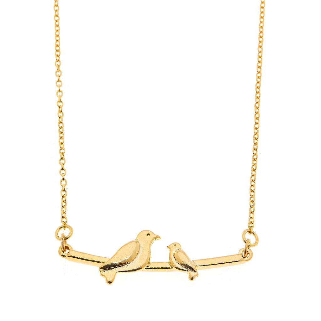 Foxy Originals: MAMA NECKLACE - ONE BABY BIRD - GOLD, Jewelry, [Ziya Blue]