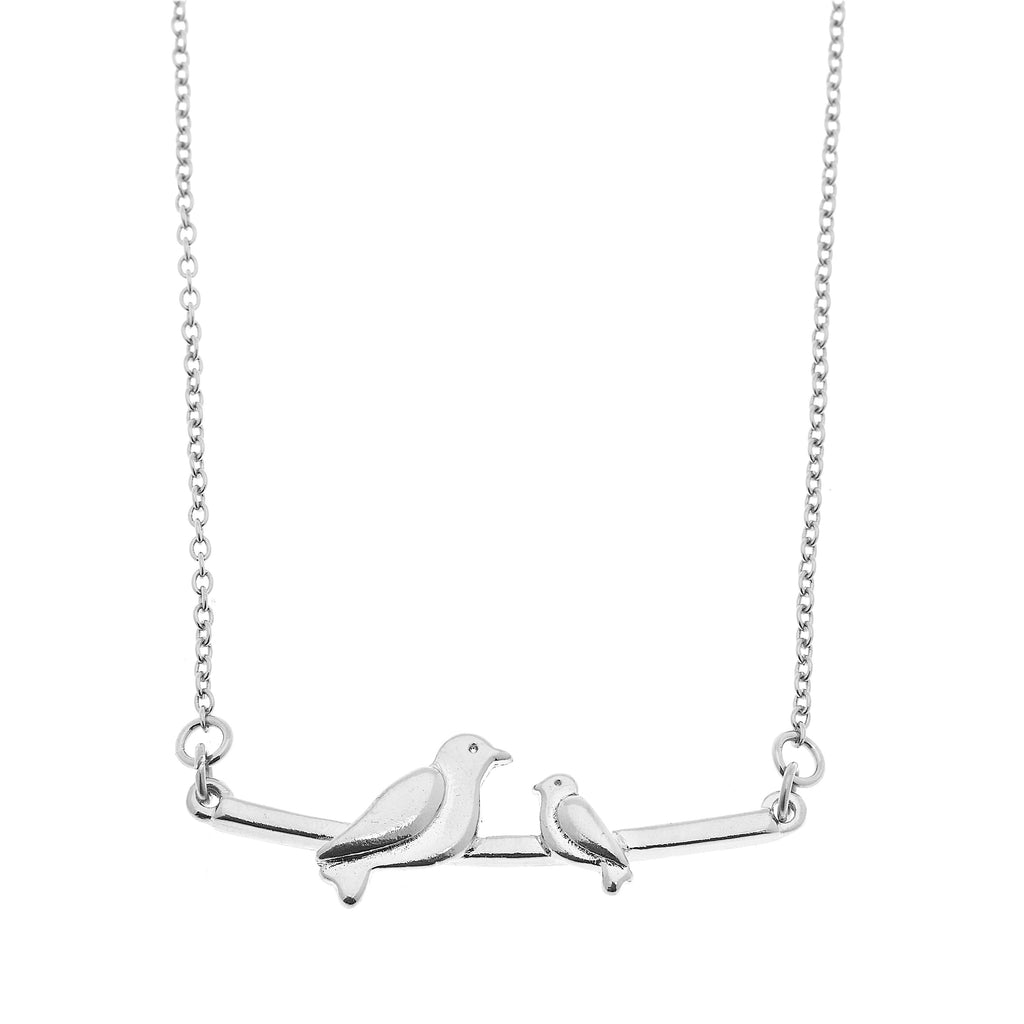 Foxy Originals: MAMA NECKLACE- ONE BABY BIRD-SILVER, Jewelry, [Ziya Blue]