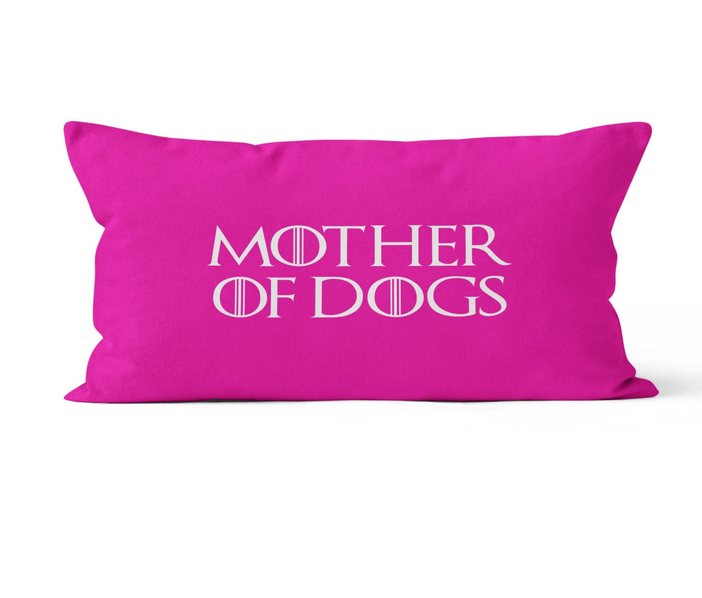 Lumbar Throw Pillow Cover, Mother of Dogs, Custom Color, MADE TO ORDER, Pillow, [Ziya Blue]