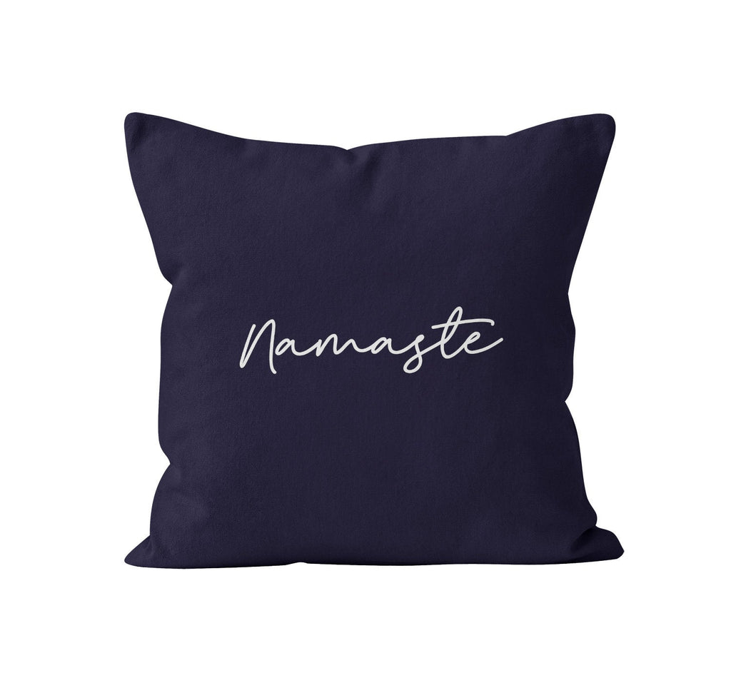 Throw Pillow Cover, Namaste, Custom Color, Nursery Pillow, [Ziya Blue]