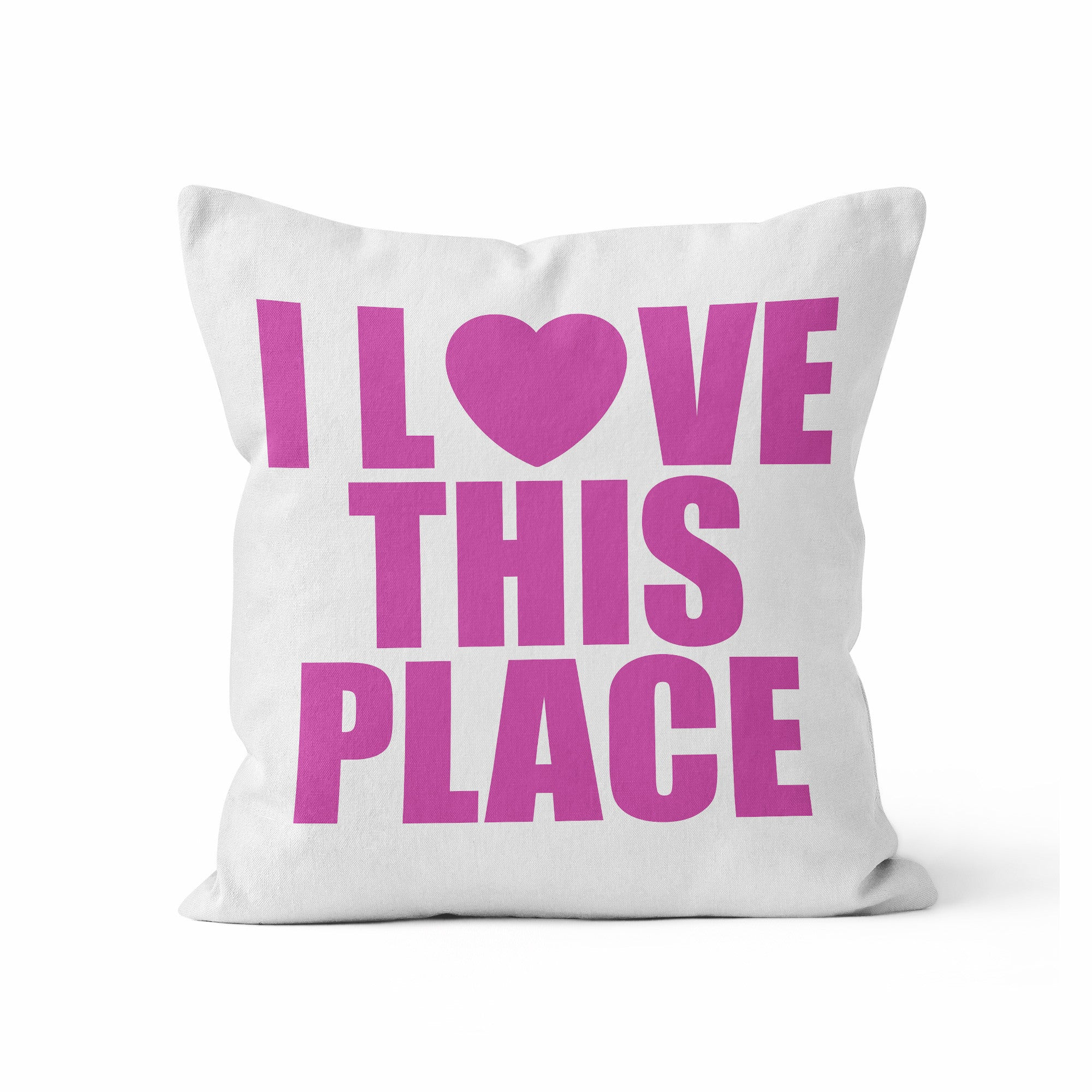 Pillow Cover, I Love This Place, CUSTOM COLOR by Kalilaine - Kalilaine Creations