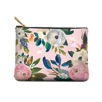 Accessory Pouch,  Bella Floral, Medium, Pouch, [Ziya Blue]