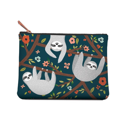 Accessory Pouch, The Sloth Life, Medium, Pouch, [Ziya Blue]