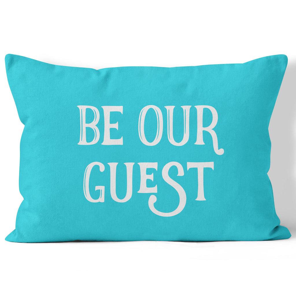 Lumbar Throw Pillow, Be Our Guest, Custom Color by Ziya Blue