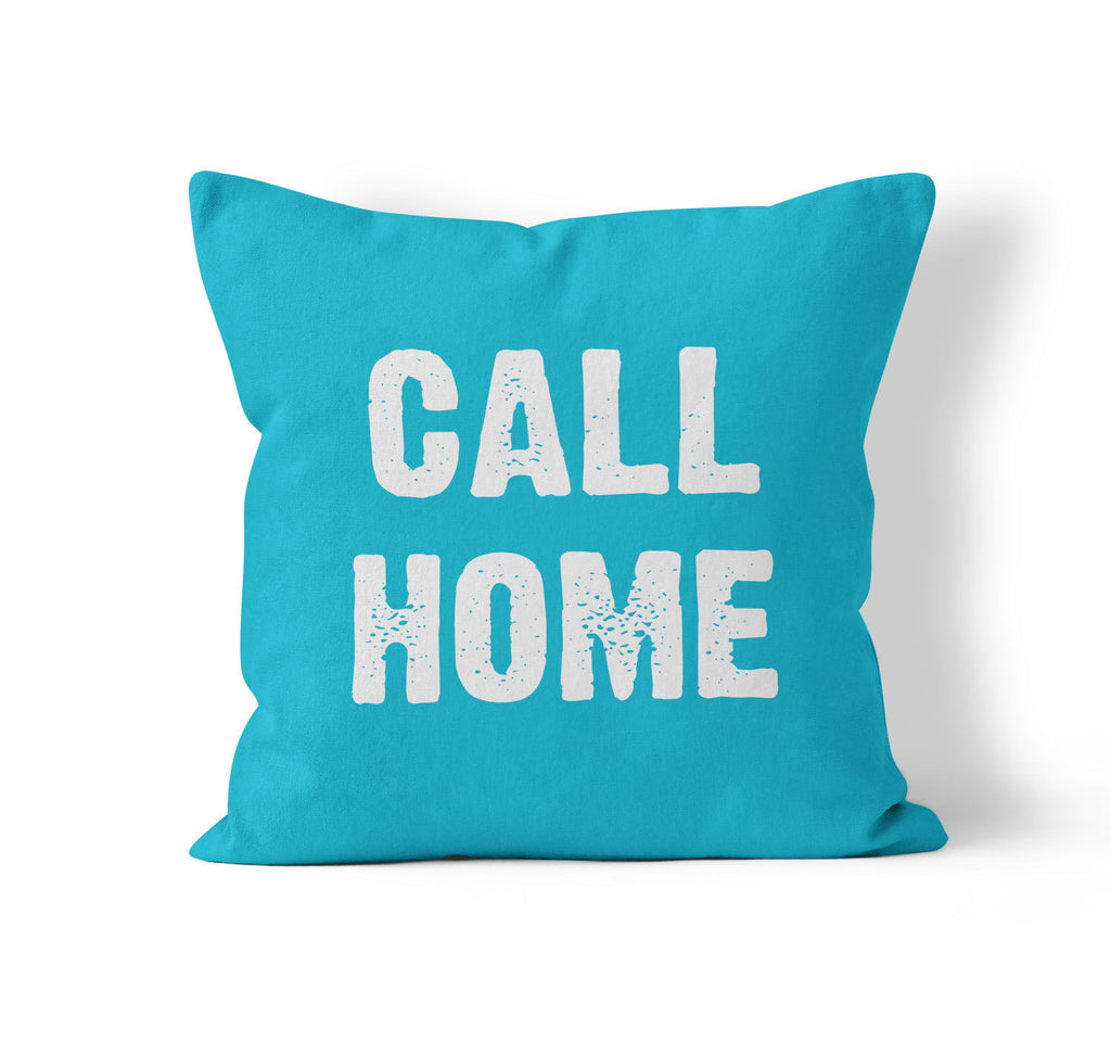Throw Pillow Cover, Call Home, Custom Color, MADE TO ORDER, Pillow, [Ziya Blue]