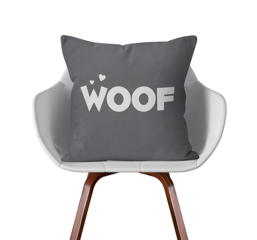 Throw Pillow, Woof, Custom Color by Ziya Blue