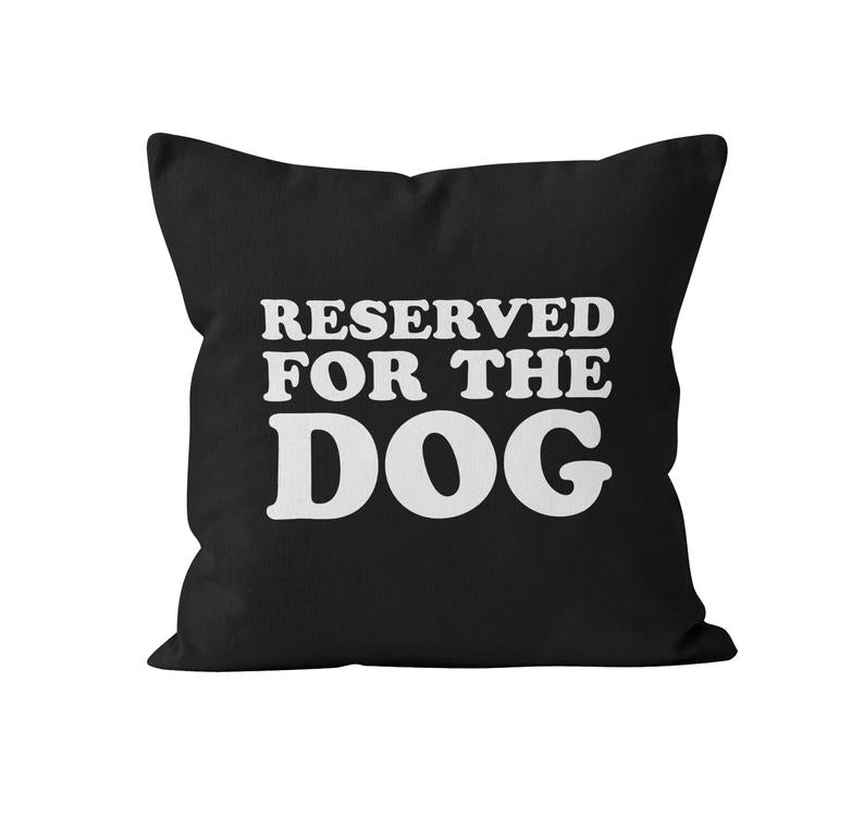 Throw Pillow Cover, Reserved For The Dog, Custom Colour, MADE TO ORDER, Pillow, [Ziya Blue]