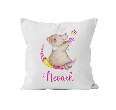 Throw Pillow Cover, Personalized, Cute Teddy Bear