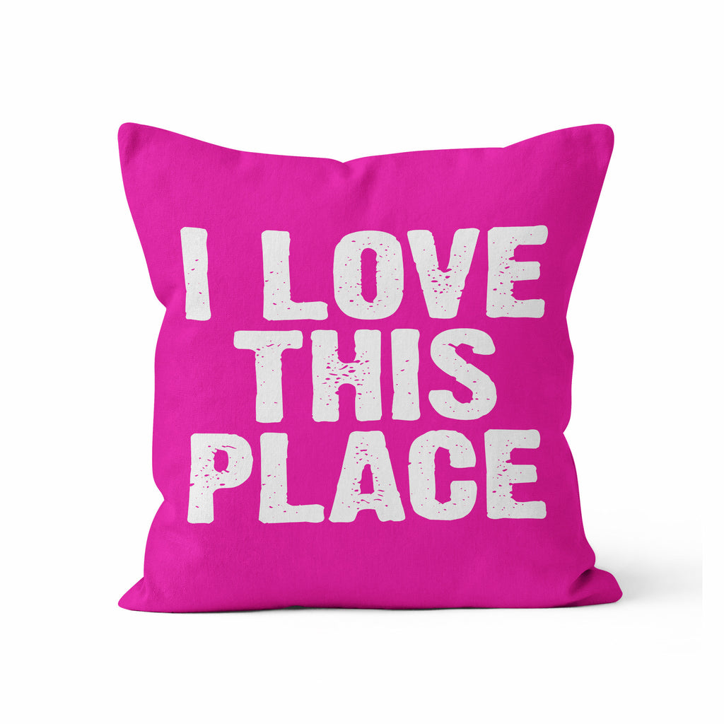 Throw Pillow Cover, I Love This Place, Custom Color, MADE TO ORDER, Pillow, [Ziya Blue]