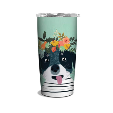Insulated Stainless Steel Tumbler - Fancy Dog, Tumbler, [Ziya Blue]