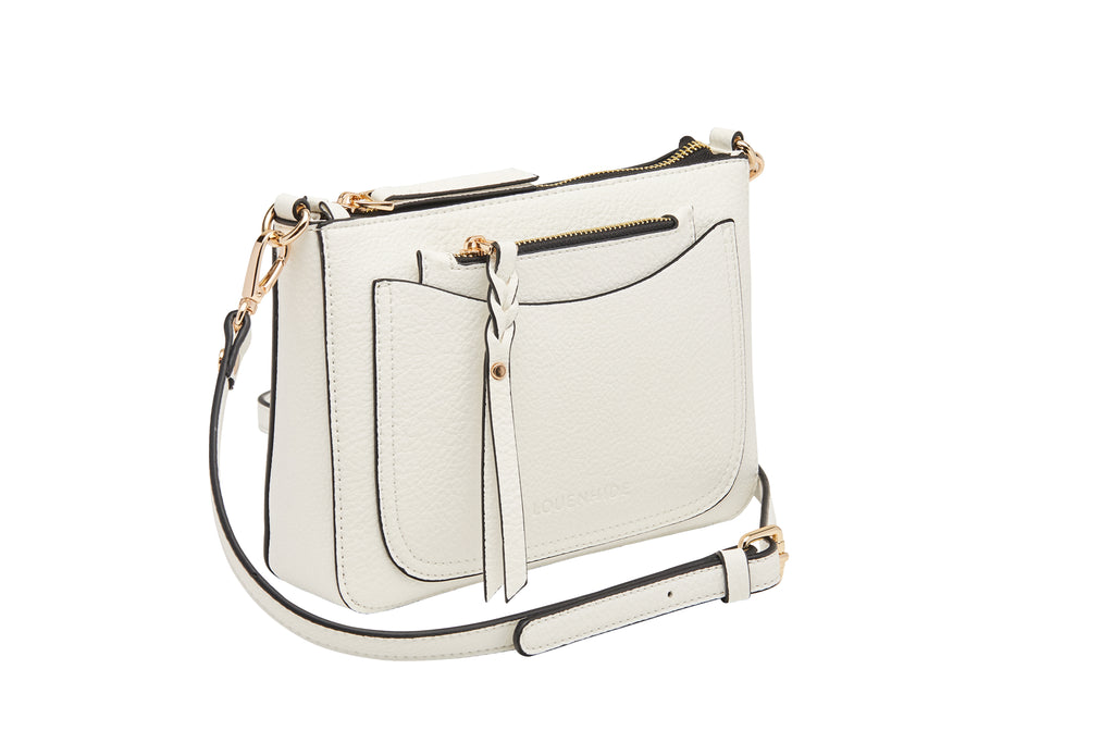 Louenhide Venice Crossbody Purse - White