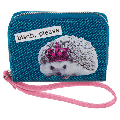 HALF WALLET HEDGEHOG, Wallet, [Ziya Blue]