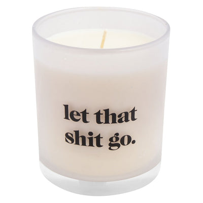 CANDLE LET THAT SHIT GO (VANILLA BEAN), Candle, [Ziya Blue]
