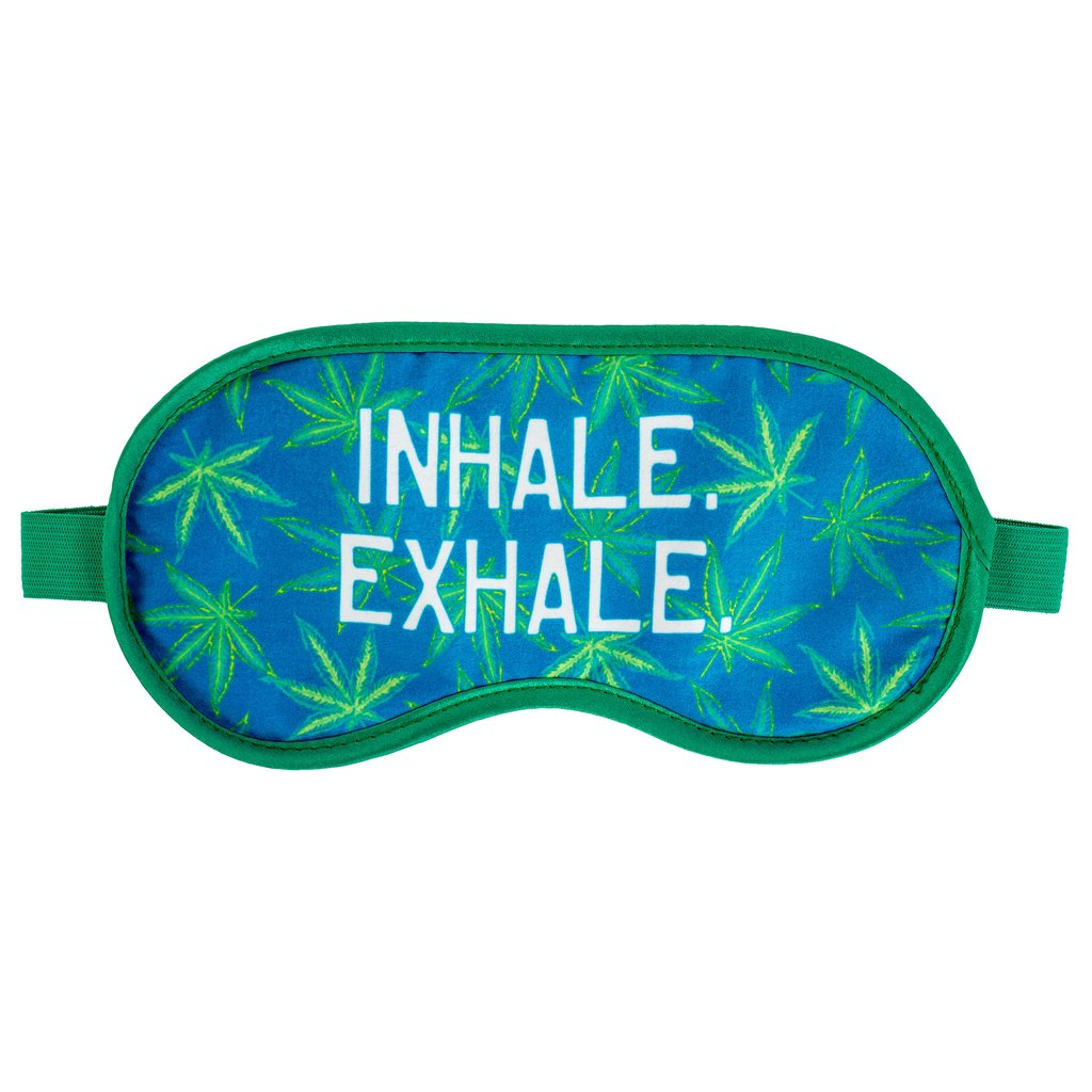 SLEEP MASK WEED, Sleep mask, [Ziya Blue]