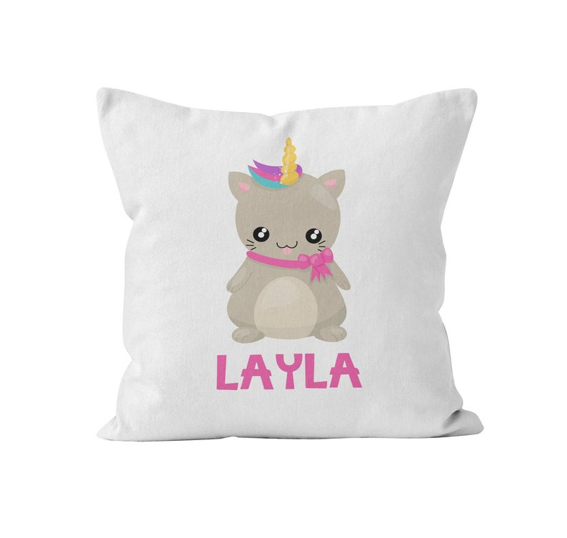 Throw Pillow Cover, Personalized, Wannabe Unicorn, Nursery Pillow, [Ziya Blue]