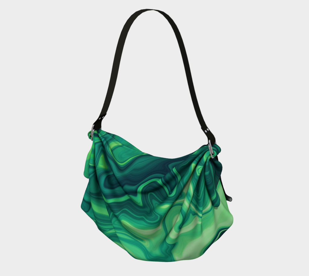 Green Swirl Abstract - Origami Tote