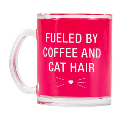 Fueled By Coffee and Hat Hair Glass Mug