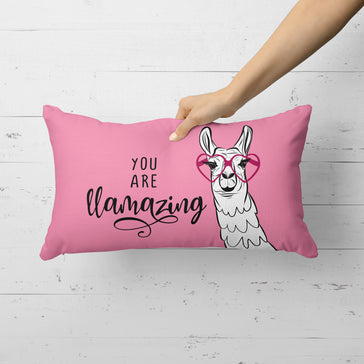 You Are Llamazing - 14x20 Velveteen Throw Pillow