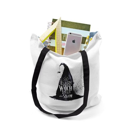 Tote, Halloween Not Every Witch Lives In Salem by Ziya Blue