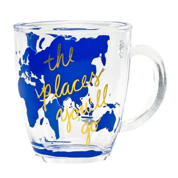 Places You'll Go  Glass Mug