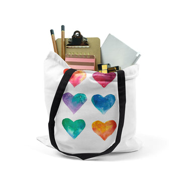 Tote, Multi-Colored Hearts by Ziya Blue