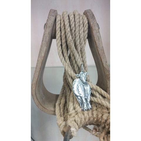Dairy Cow Pewter Necklace