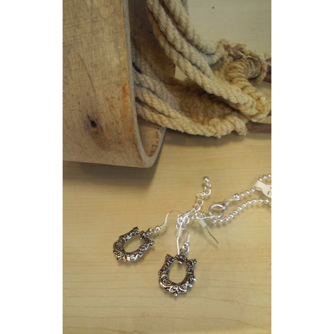 Horseshoe Necklace & Earring Set