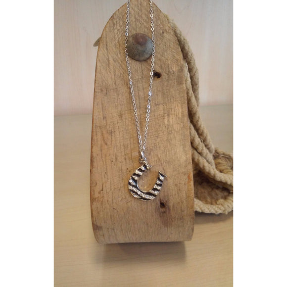 Horseshoe Necklace -Zebra - Oak Spring Bling