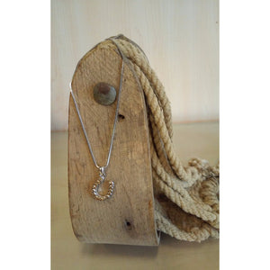 Horseshoe Necklace - Small, Light Colorado Rhinestones - Oak Spring Bling