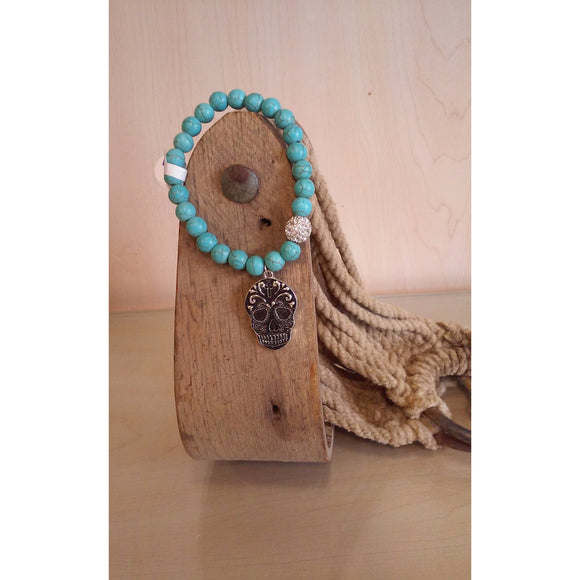 Sugar Skull Dangle Bracelet - Oak Spring Bling