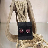 Crystal Post Earrings - Purple - Oak Spring Bling