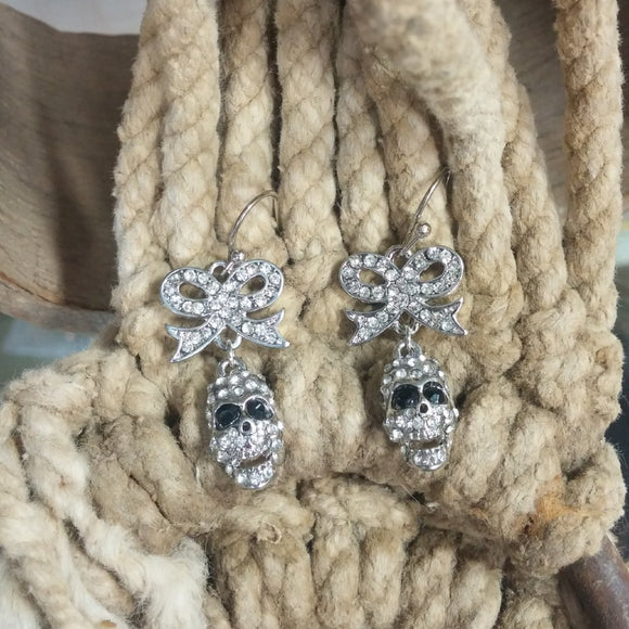 Bow & skull Earrings - Oak Spring Bling