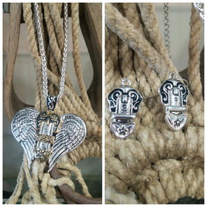 Wing and Buckle Necklace & Earring Set
