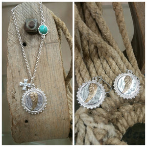 Wing Necklace & Earring Set