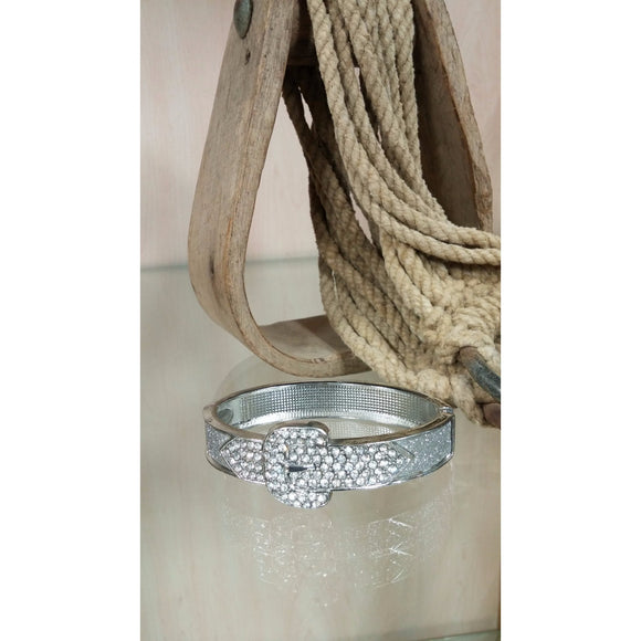 Buckle Hinged Bracelet - Oak Spring Bling