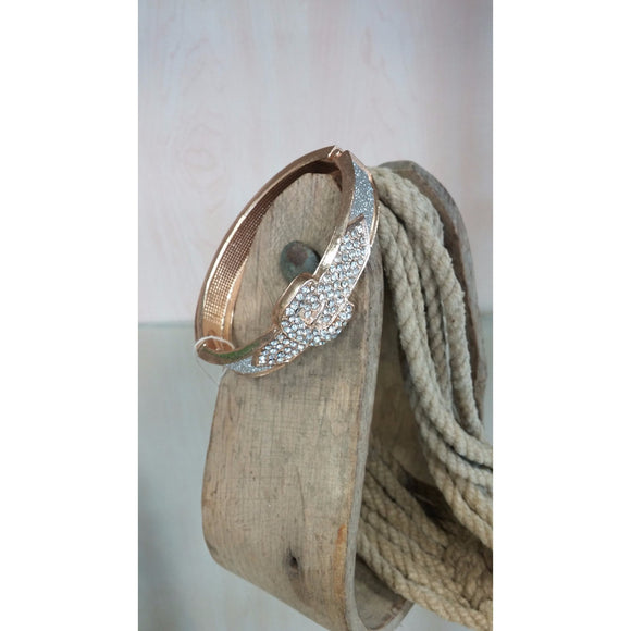 Gold Hinged Buckle Bracelet - Oak Spring Bling